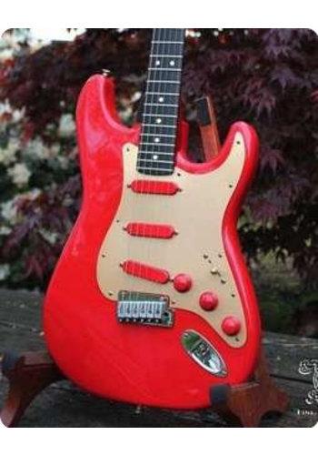 Fender Custom Fender Stratocaster Custom shop one off 40th Ann Alloy Aluminum Corvette red 1994
