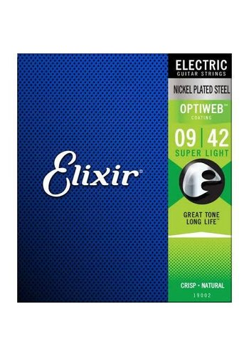 Elixir Elixir Optiweb Nickel Plated Steel extra light 09-42