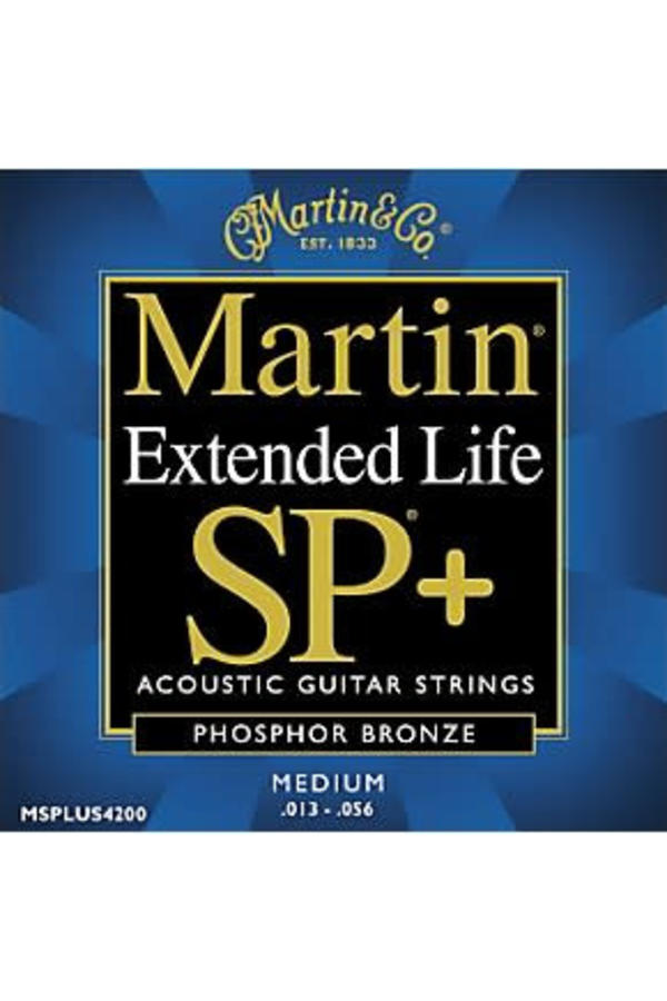 Martin Extended Life SP+ MSPLUS4200 Phosphor Bronze Medium 013-056