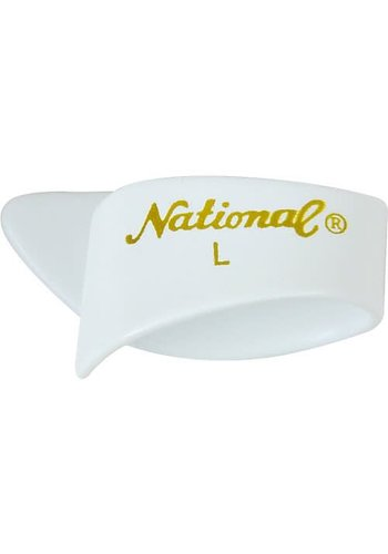 National National Thumb Pick White Large