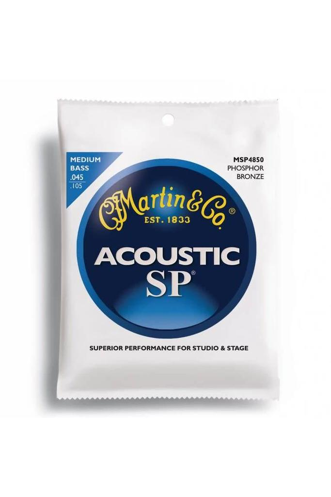 Martin MSP4850 SP Phosphor Bronze Acoustic Bass Strings, Medium .045-.105
