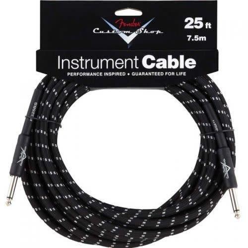 Fender Fender Custom Shop Performance Series Instrument Kabel 7.5m Black Tweed Straight-Straight