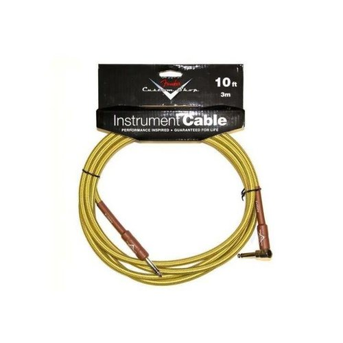 Fender Fender Custom Shop Performance Series Instrument Kabel 3m Tweed Angled-Straight
