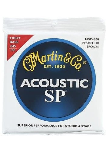 Martin MSP4800 SP Phosphor Bronze Acoustic Bass Strings, Light .045-.100