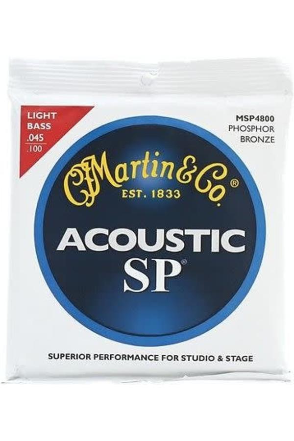 Martin MSP4800 SP Phosphor Bronze Acoustic Bass Strings, Light .045-.100