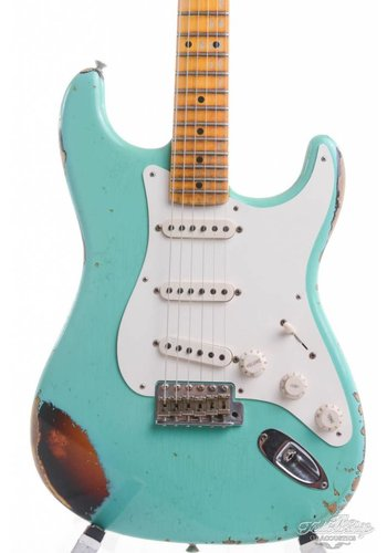Fender Fender Custom Shop 58 Stratocaster Heavy Relic Surf Green over Sunburst