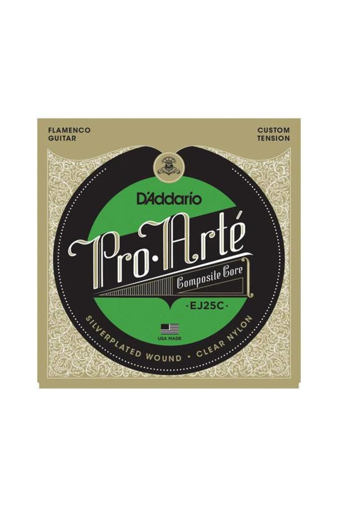 D'Addario Pro Arte EJ25C Flamenco Silver Plated Wound Clear Nylon Composite Core
