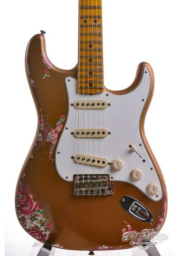 Fender Fender Custom Shop Limited Edition NAMM '69 Heavy Relic Stratocaster Electric Guitar Aged Fire Mist Gold over Pink Paisley