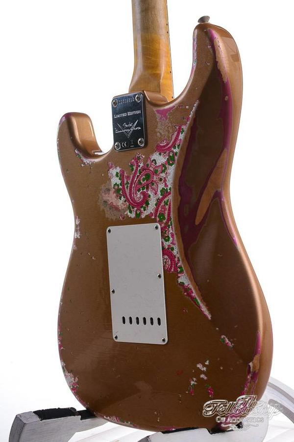 Fender Custom Shop Limited Edition NAMM '69 Heavy Relic Stratocaster Aged Fire Mist Gold over Pink Paisley