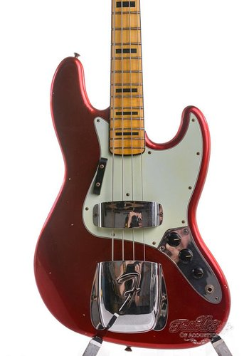 Fender Fender Custom Shop 1975 Jazz bass Candy Apple Red Journeyman Relic 2016