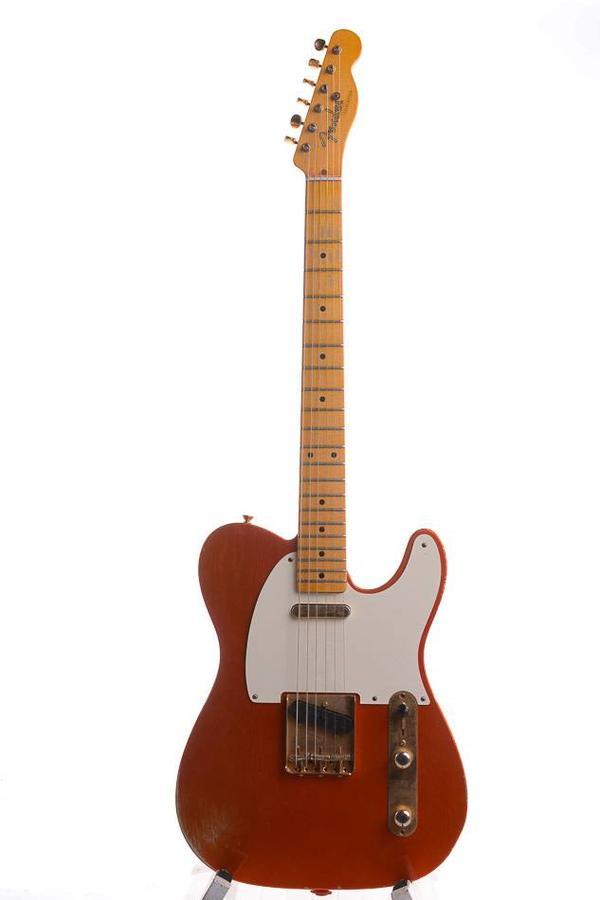 Fender 52' Telecaster Custom shop Tangerine Orange over Silver Relic 2013