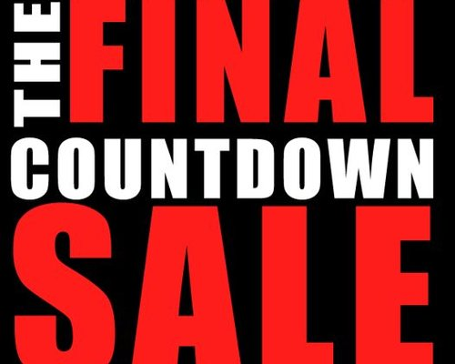 The Final Countdown Sale has finally started!