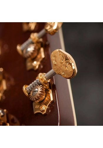 Waverly Waverly Guitar Tuners 4062-G  with Engraved Knobs for Solid Pegheads Gold