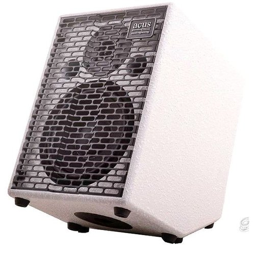 Acus Acus One For Strings 8 Cut Simon Limited Edition White Texture Acoustic Amplifier