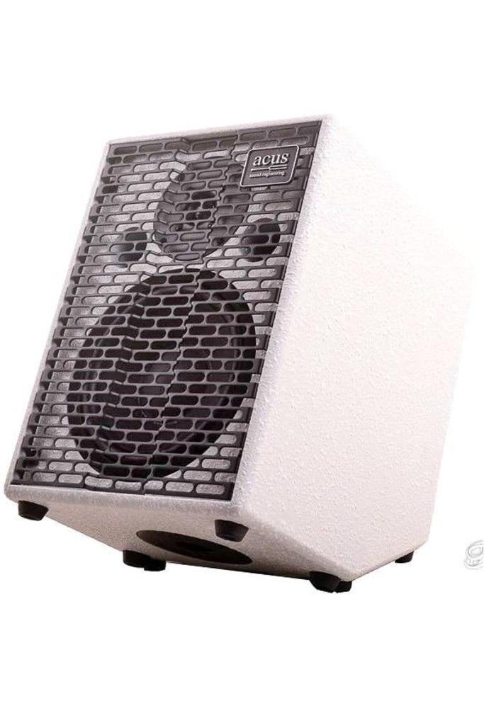 Acus One For Strings 8 Cut Simon Limited Edition White Texture Acoustic Amplifier