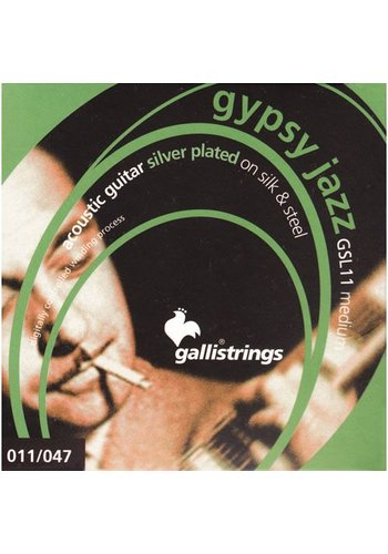 Gallistrings Gallistring Gypsy Jazz GSL 11 Silver plated on Silk & Steel