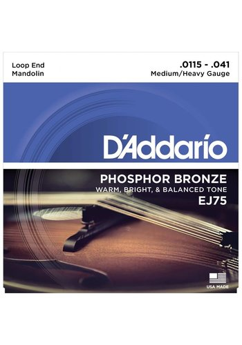 D'addario D'addario EJ75 Mandolin Strings Phosphor Bronze, Light 11.5-41
