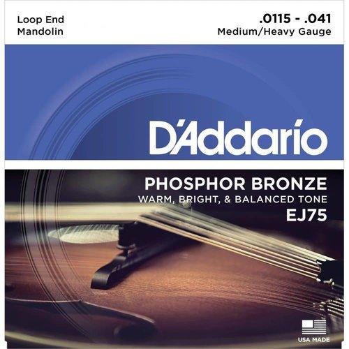 D'addario D'addario EJ75 Mandolin Strings Phosphor Bronze, Light 11.5-41