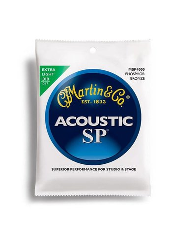 Martin Strings Martin MSP4000 SP Phosphor Bronze Acoustic Guitar Strings, Extra Light 10-47