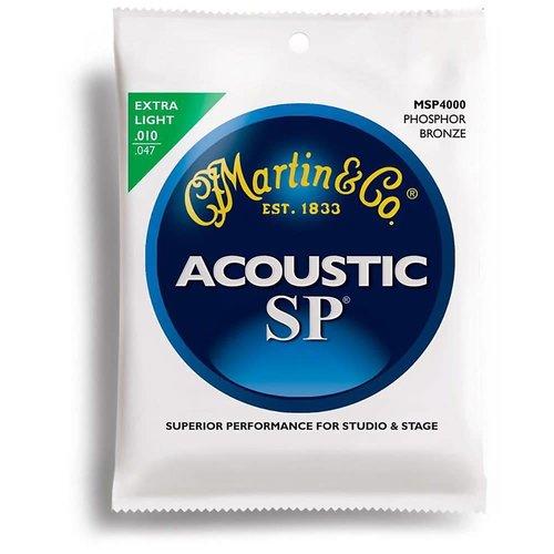 Martin Strings Martin MSP4000 SP Phosphor Bronze akoestische gitaarsnaren, extra licht 10-47