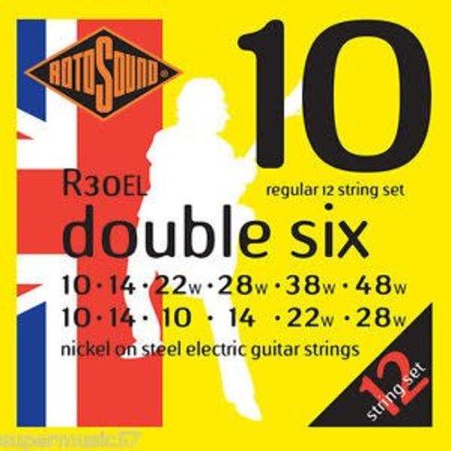 Rotosound Rotosound R30EL Double Six elektrische gitaarsnaren .010-.048w