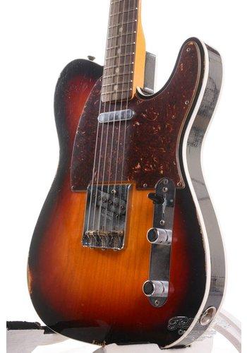 Fender Custom Fender Custom Shop Telecaster Custom 1963 Relic 3-Tone Sunburst
