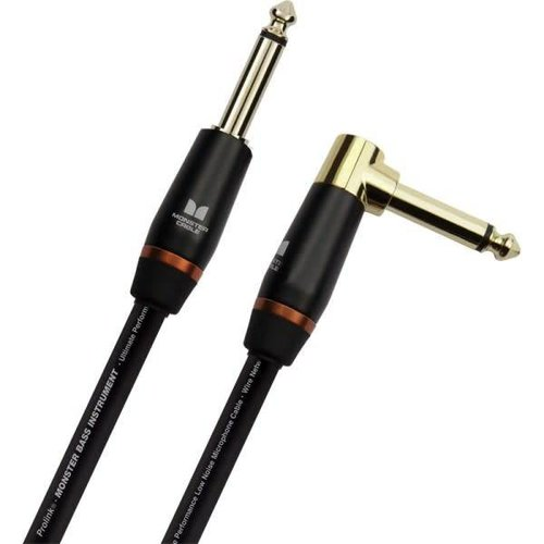 Monster Cable Monster BASS2-12A Bass Instrument Cable Straight-Angled 3.65M