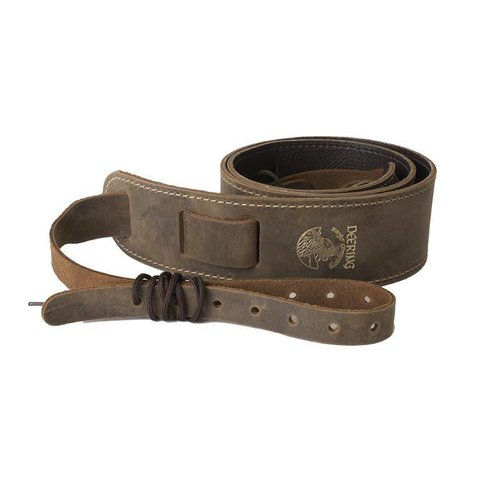 Deering Deering  Banjo Stitched Leather Cradle Strap Chocolate Brown