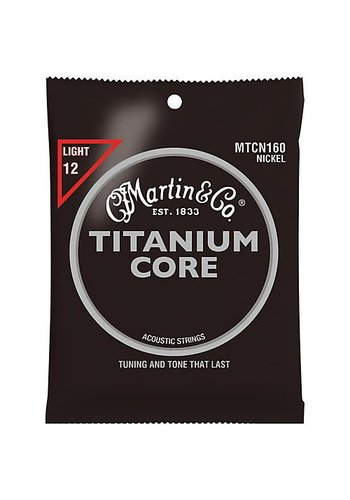Martin Strings Martin Titanium Core snaren MTCN160 12 light