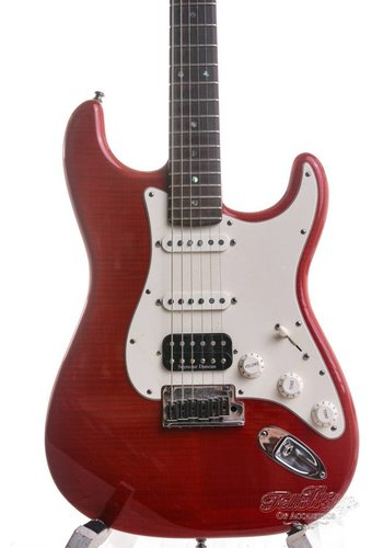 Fender Custom Shop Fender Custom shop Custom DLX Stratocaster Candy Red Flame 2011