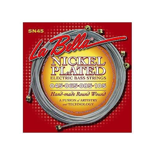 La Bella La Bella  SN45 Electric Bass Strings Nickel Plated Roundwound Light Longscale