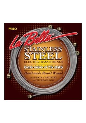 La Bella La Bella M40  Electric Bass Strings Roundwound Extra Light