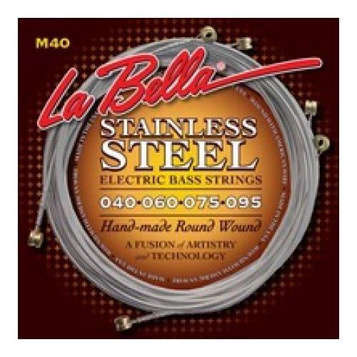 La Bella La Bella M40  Electric Bass Strings Roundwound Extra Light