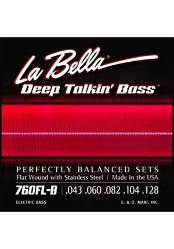 La Bella La Bella 760FL-B Flatwound 5 Deep Talkin' Bass Light