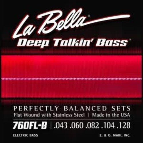 La Bella La Bella 760FL-B Flatwound 5 Deep Talkin' Bass Light