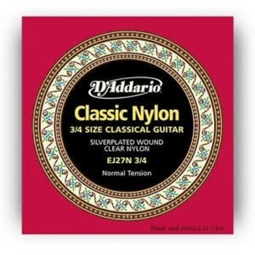 D'addario D'Addario EJ27N-3-4 Normal Tension 3/4 Nylon Guitar Set