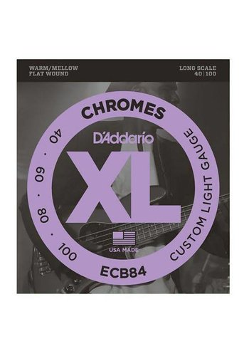 D'addario D'addario ECB84 XL Chromes Flat Wound set Long Scale Bass