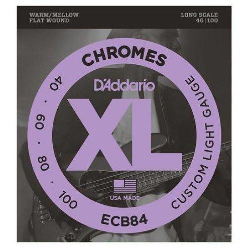 D'addario D'addario ECB84 XL Chromes Flat Wound set Long Scale Bass