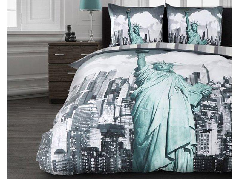 Dreamhouse Bedding Dekbedovertrek vrijheidsbeeld grijs