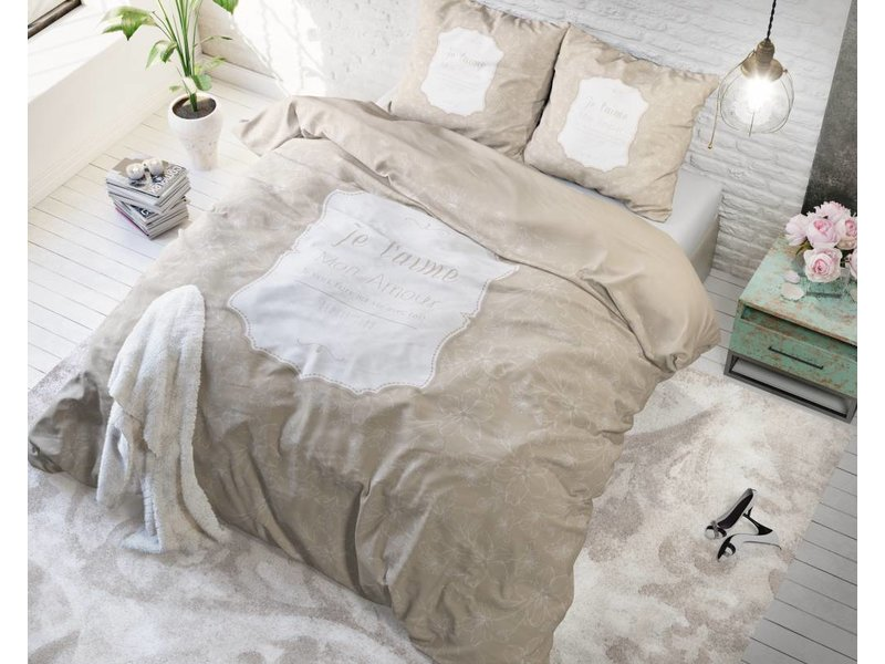 Sleeptime Dekbedovertrek mon amour crème