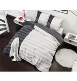 Sleeptime Dekbedovertrek met strepen grijs