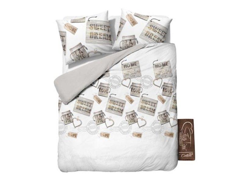 Sleeptime Dekbedovertrek zoete dromen wit