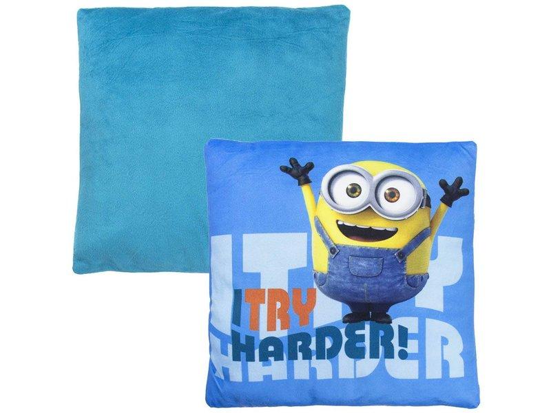 Universal Kussen minions blauw