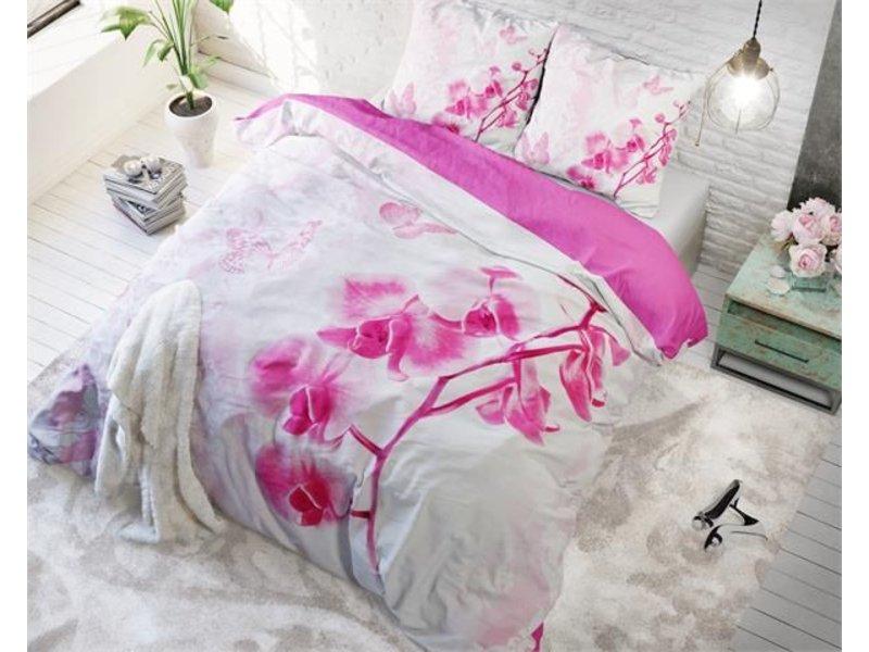 Sleeptime Dekbedovertrek bloemen orchidee roze