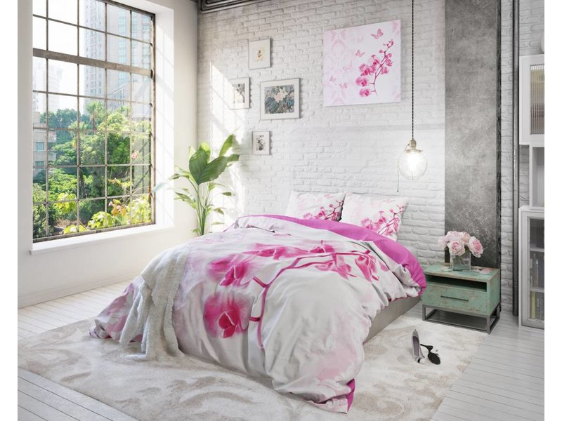 Licht Roze Dekbedovertrek : Dekbedovertrek bloemen uw dekbedovertrek