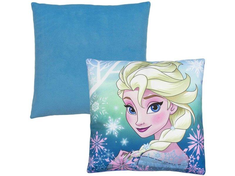 Frozen Slaapkamer Accessoires : Kussen frozen blauw uw dekbedovertrek