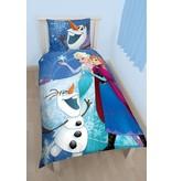Disney Dekbedovertrek Frozen sneeuwvlokjes