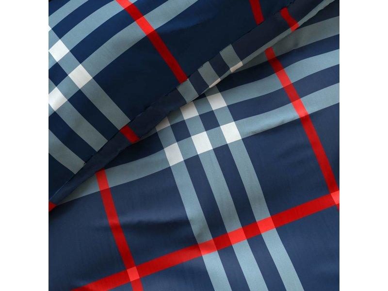 Sleeptime Dekbedovertrek geruit rood/blauw