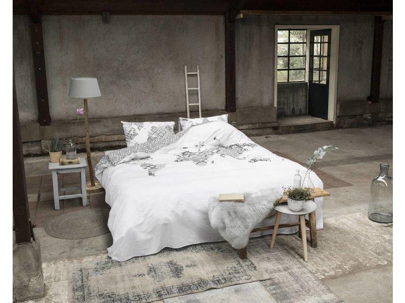 Dreamhouse Bedding Dekbedovertrek Worldmap white