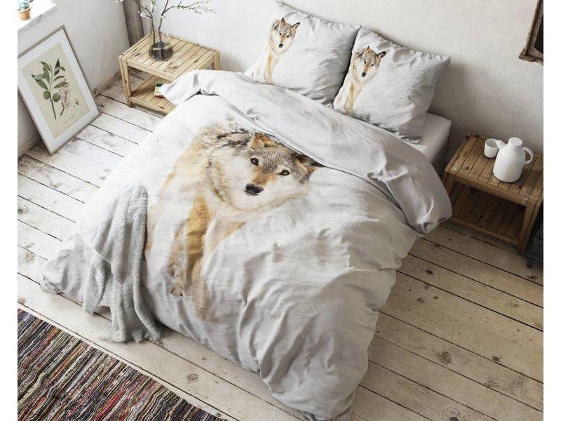 Sleeptime Dekbedovertrek wolf sneeuw